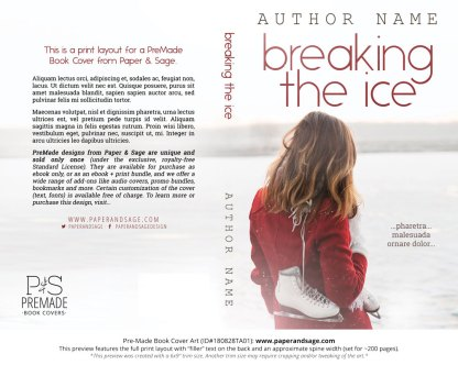 Print layout for Pre-Made Book Cover ID#180828TA01 (Breaking the Ice)