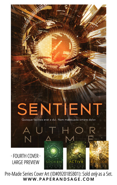 PreMade Series Covers ID#092018SB01 (Sentient Series, Only Sold as a Set)