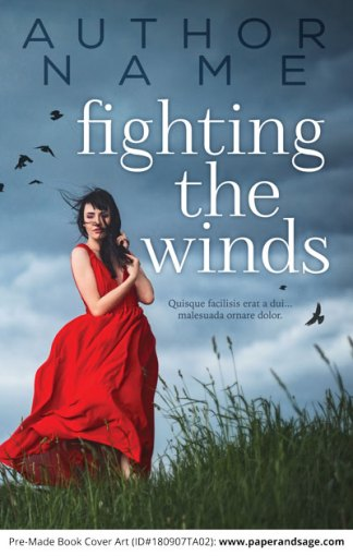 Pre-Made Book Cover ID#180907TA02 (Fighting the Winds)