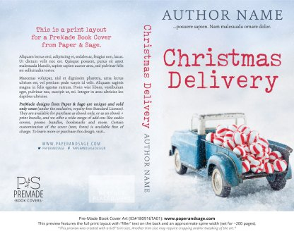 Print layout for Pre-Made Book Cover ID#180916TA01 (Christmas Delivery)