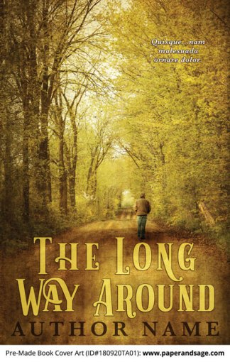 Pre-Made Book Cover ID#180920TA01 (The Long Way Around)
