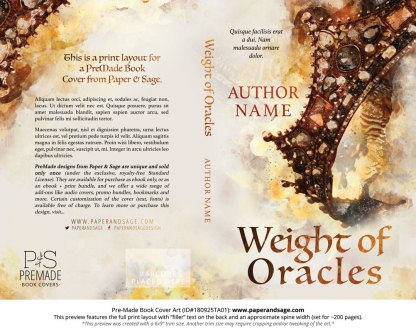 Pre-Made Book Cover ID#180925TA01 (Weight of Oracles)