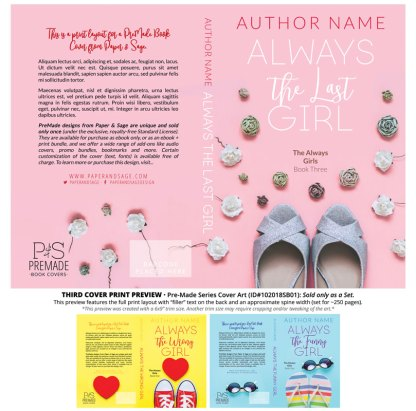 Print layout for PreMade Series Covers ID#102018SB01 (The Always Girls Series, Only Sold as a Set)