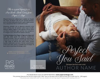 Print layout for Pre-Made Book Cover ID#181003TA01 (Perfect, You Said)