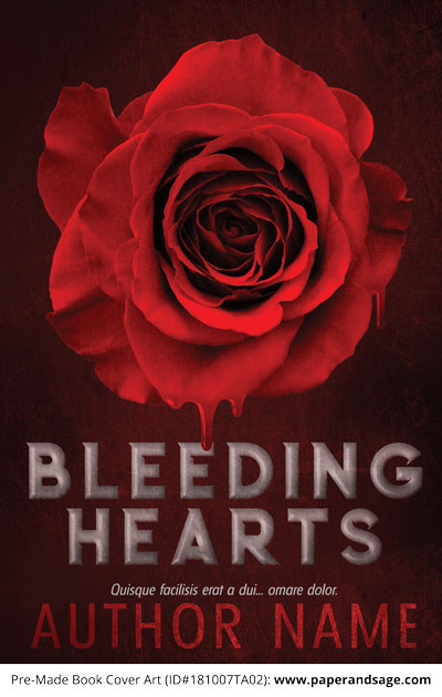 Pre-Made Book Cover ID#181007TA02 (Bleeding Hearts)