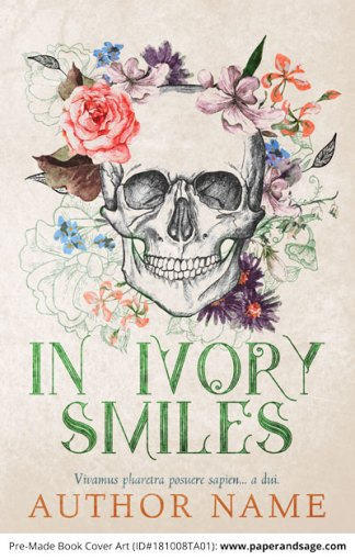 Pre-Made Book Cover ID#181008TA01 (In Ivory Smiles)