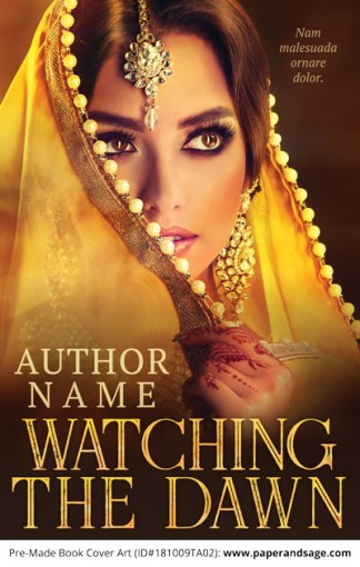 Pre-Made Book Cover ID#181009TA02 (Watching the Dawn)
