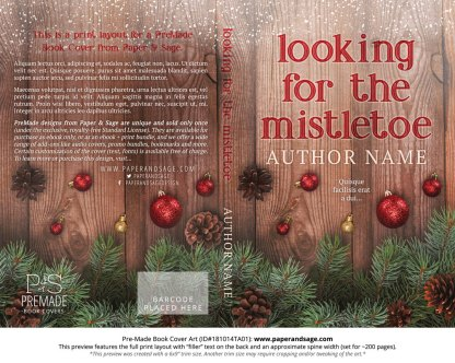 Print layout for Pre-Made Book Cover ID#181014TA01 (Looking for the Mistletoe)