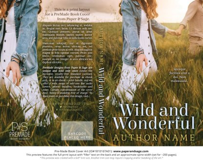 Print layout for Pre-Made Book Cover ID#181016TA01 (Wild and Wonderful)