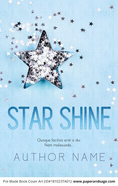 Pre-Made Book Cover ID#181023TA01 (Star Shine)