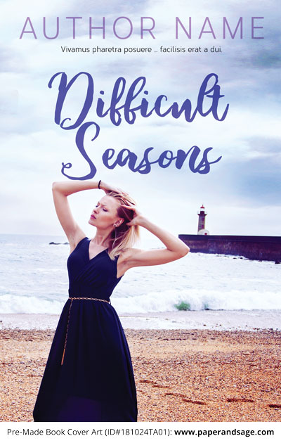 Pre-Made Book Cover ID#181024TA01 (Difficult Seasons)