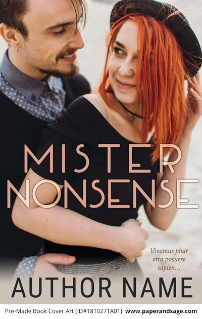 Pre-Made Book Cover ID#181026TA01 (Mister Nonsense)