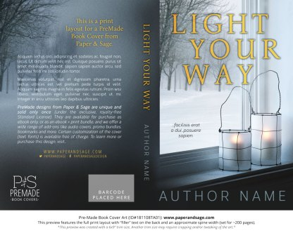 Print layout for Pre-Made Book Cover ID#181108TA01 (Light Your Way)