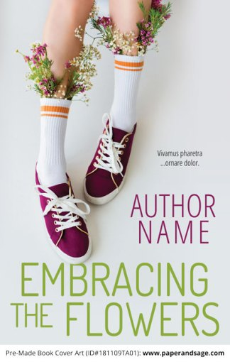 Pre-Made Book Cover ID#181109TA01 (Embracing the Flowers)