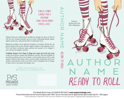 Print layout for Pre-Made Book Cover ID#181207TA01 (Ready to Roll)