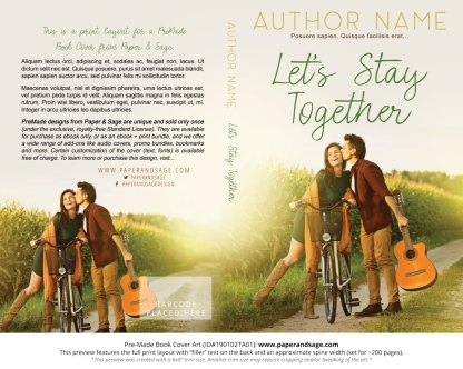 Print layout for Pre-Made Book Cover ID#190102TA01 (Let's Stay Together)
