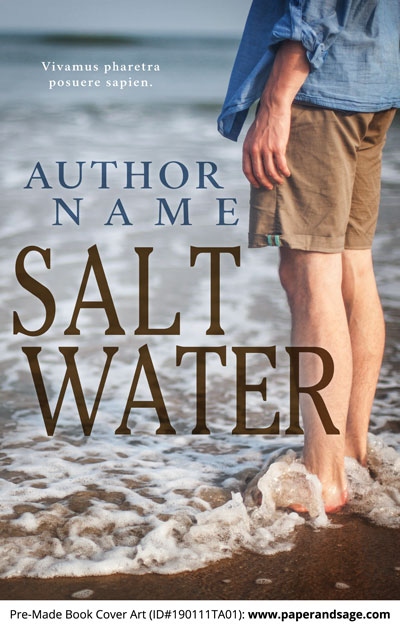 Pre-Made Book Cover ID#190111TA01 (Salt Water)