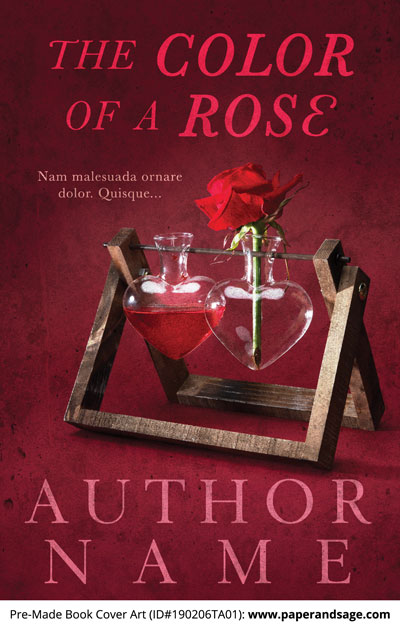 Pre-Made Book Cover ID#190206TA01 (The Color of a Rose)