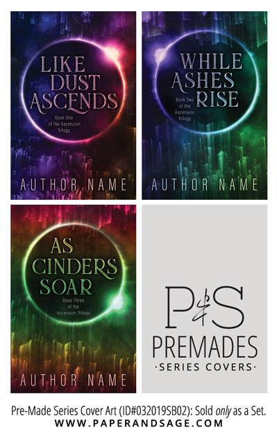 PreMade Series Covers ID#032019SB02 (Ascension Trilogy, Only Sold as a Set)