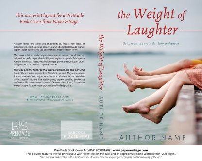 Print layout for Pre-Made Book Cover ID#190308TA02 (The Weight of Laughter)