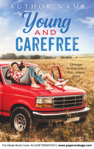Pre-Made Book Cover ID#190403TA01 (Young and Carefree)