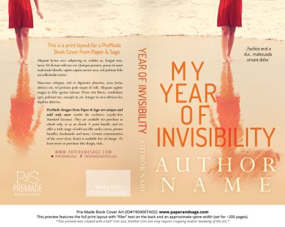 Print layout for Pre-Made Book Cover ID#190406TA02 (My Year of Invisibility)