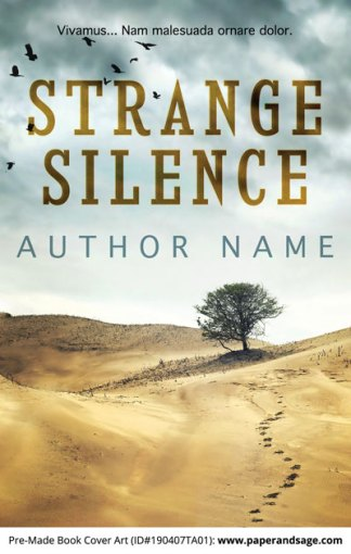 Pre-Made Book Cover ID#190407TA01 (Strange Silence)