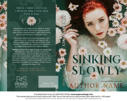 Print layout for Pre-Made Book Cover ID#190414TA02 (Sinking Slowly)