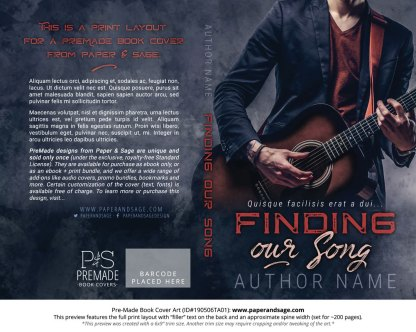 Pre-Made Book Cover ID#190506TA01 (Finding Our Song)
