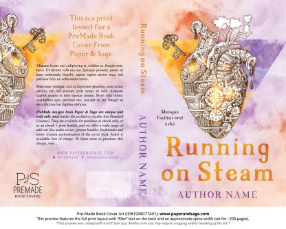 Pre-Made Book Cover ID#190607TA01 (Running on Steam)