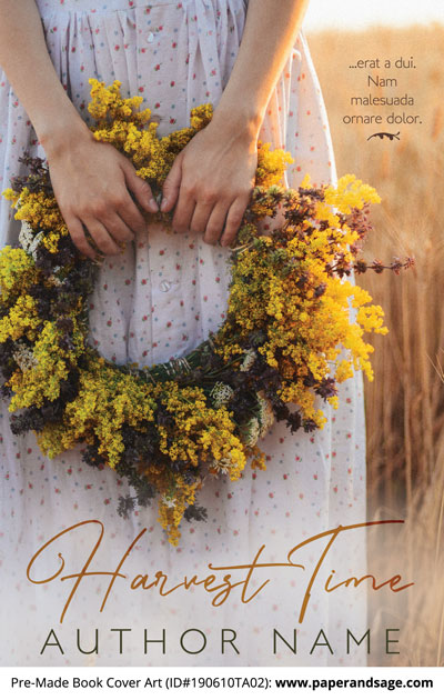 Pre-Made Book Cover ID#190610TA02 (Harvest Time)