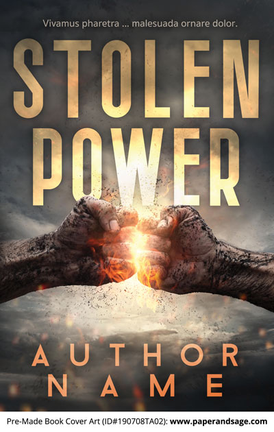 Pre-Made Book Cover ID#190708TA02 (Stolen Power)