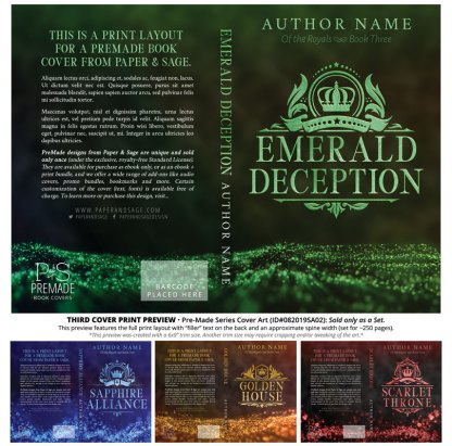 PreMade Series Covers ID#082019SA02 (Of the Royals Series, Only Sold as a Set)