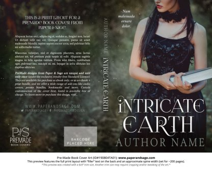 Pre-Made Book Cover ID#190804TA01 (Intricate Earth)