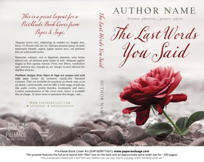 Pre-Made Book Cover ID#190901TA01 (The Last Words You Said)