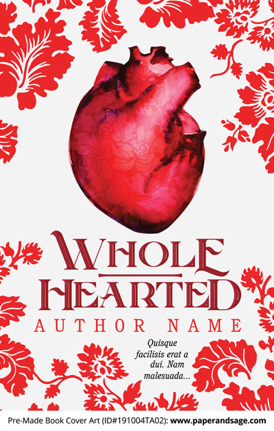 Pre-Made Book Cover ID#191004TA02 (Whole Hearted)