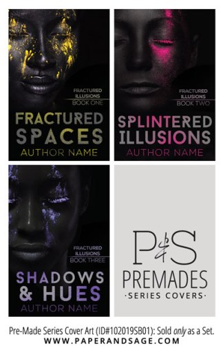 PreMade Series Covers ID#112019SA01 (Fractured Illusions Series, Only Sold as a Set)