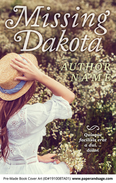Pre-Made Book Cover ID#191008TA01 (Missing Dakota)