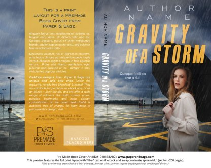 Pre-Made Book Cover ID#191013TA02 (Gravity of a Storm)
