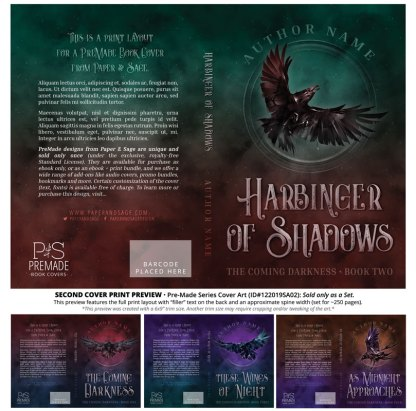 PreMade Series Covers ID#122019SA02 (Coming Darkness Series, Only Sold as a Set)