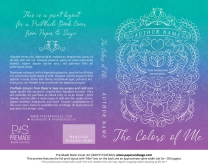 Pre-Made Book Cover ID#191104TA02 (The Colors of Me)