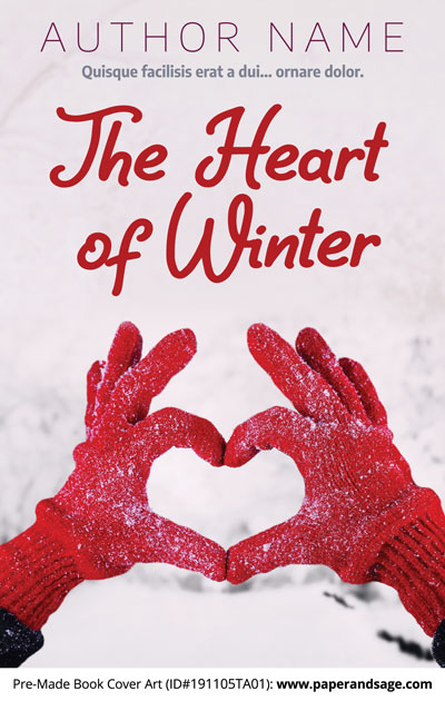 Pre-Made Book Cover ID#191105TA01 (The Heart of Winter)