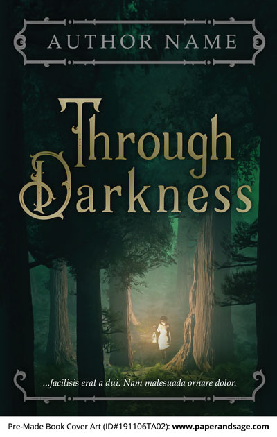 Pre-Made Book Cover ID#191106TA02 (Through Darkness)