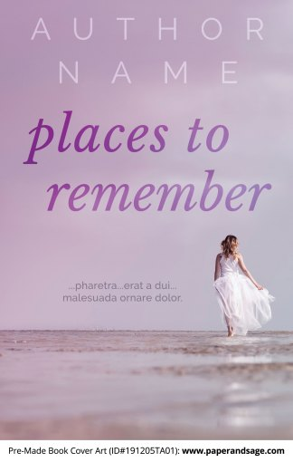 Pre-Made Book Cover ID#191205TA01 (Places to Remember)