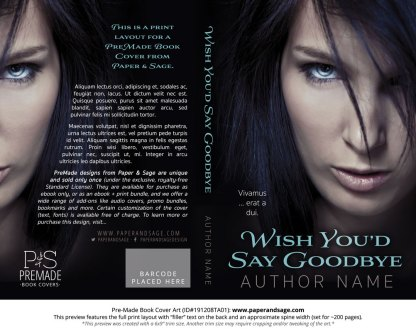 Pre-Made Book Cover ID#191208TA01 (Wish You'd Say Goodbye)