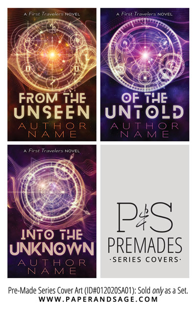 PreMade Series Covers ID#012020SA01 (The First Travelers Series, Only Sold as a Set)