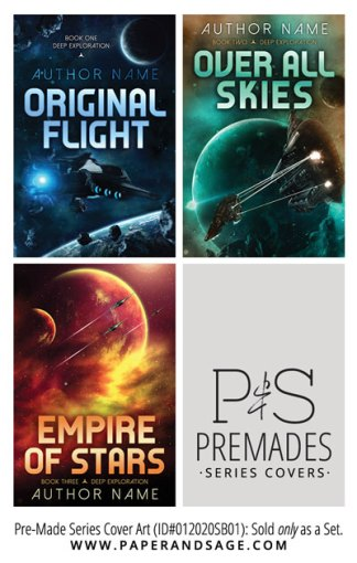 PreMade Series Covers ID#012020SB01 (The Deep Exploration Series, Only Sold as a Set)