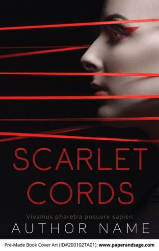 Pre-Made Book Cover ID#200102TA01 (Scarlet Cords)