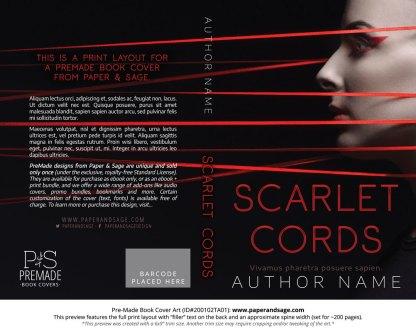 Pre-Made Book Cover ID#200102TA01 (Scarlet Cords)