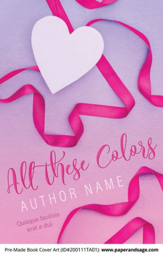 Pre-Made Book Cover ID#200111TA01 (All These Colors)